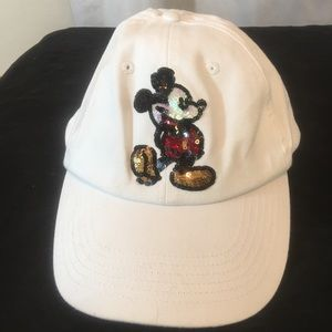 Mickey Mouse Disney Parks Baseball Hat Sequins NWT